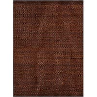 Hand-woven Brown Jute Rug (6' x 9')