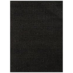 Handwoven Black Jute Area Rug (5' x 8')