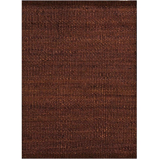 Hand-woven Brown Jute Rug - 5' x 8'