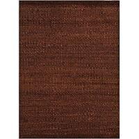 Hand-woven Brown Jute Rug - 5' x 8'