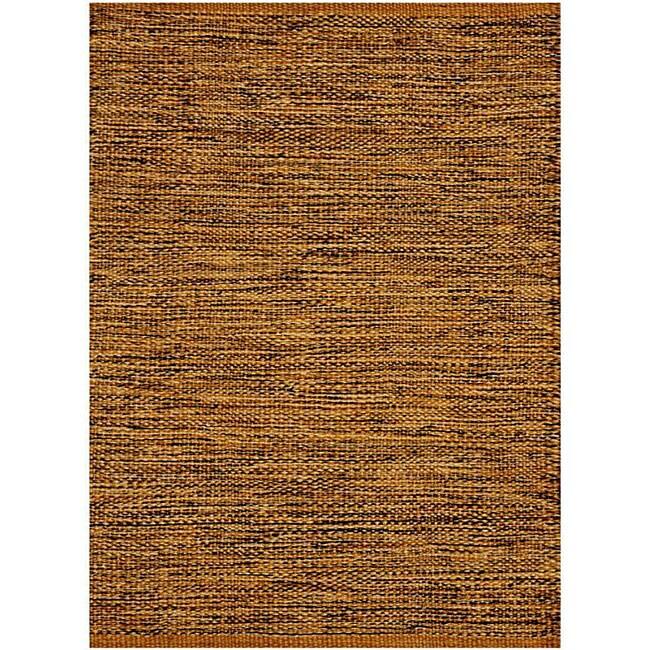 Hand-woven Natural/Black Jute-blend Rug (6' x 9')