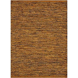 Hand-woven Natural/Black Jute-blend Rug (6' x 9')