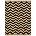 Chevron Hand-woven Kilim Wool Geometric Rug (4' x 6') - 4' x 6'