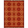 Hand-Woven Kilim Transitional Wool Rug (6' x 9')