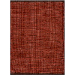 Hand-woven Burgundy Jute Rug - 6' x 9' - Thumbnail 0