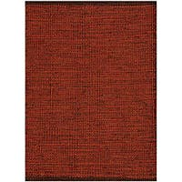 Hand-woven Burgundy Jute Rug (8' x 11') - 8' x 11'