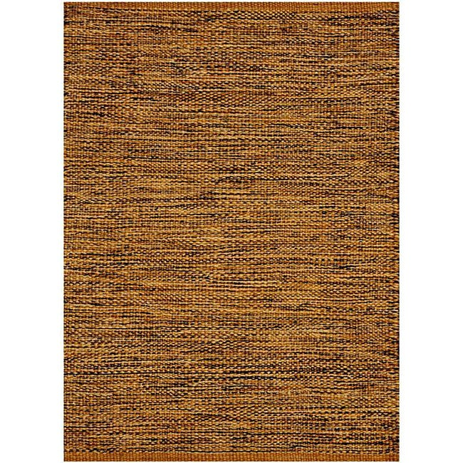 Hand-woven Brown Jute Rug (8' x 11')
