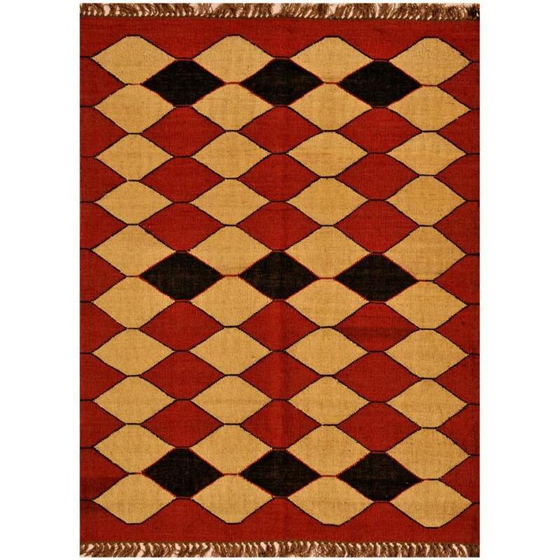 Hand-woven Kilim Wool Rug (5' x 8')