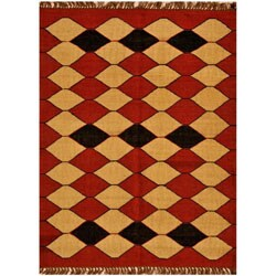 Shop Hand Woven Kilim Wool Rug 5 X 8 Free Shipping