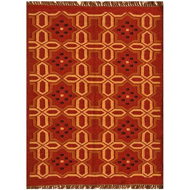 Hand-woven Kilim Wool Rug (8' x 11') - 8' x 11'