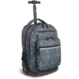 J World 'Sundance' Blinker Black 19.5-inch Rolling Backpack with Laptop Sleeve