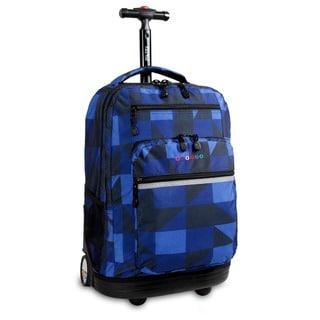 J World Sundace Navy Block Rolling 15-inch Laptop Backpack