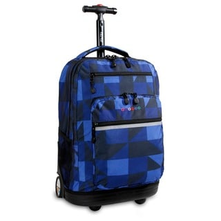 J World Sundace Navy Block Rolling 15-inch Laptop Backpack