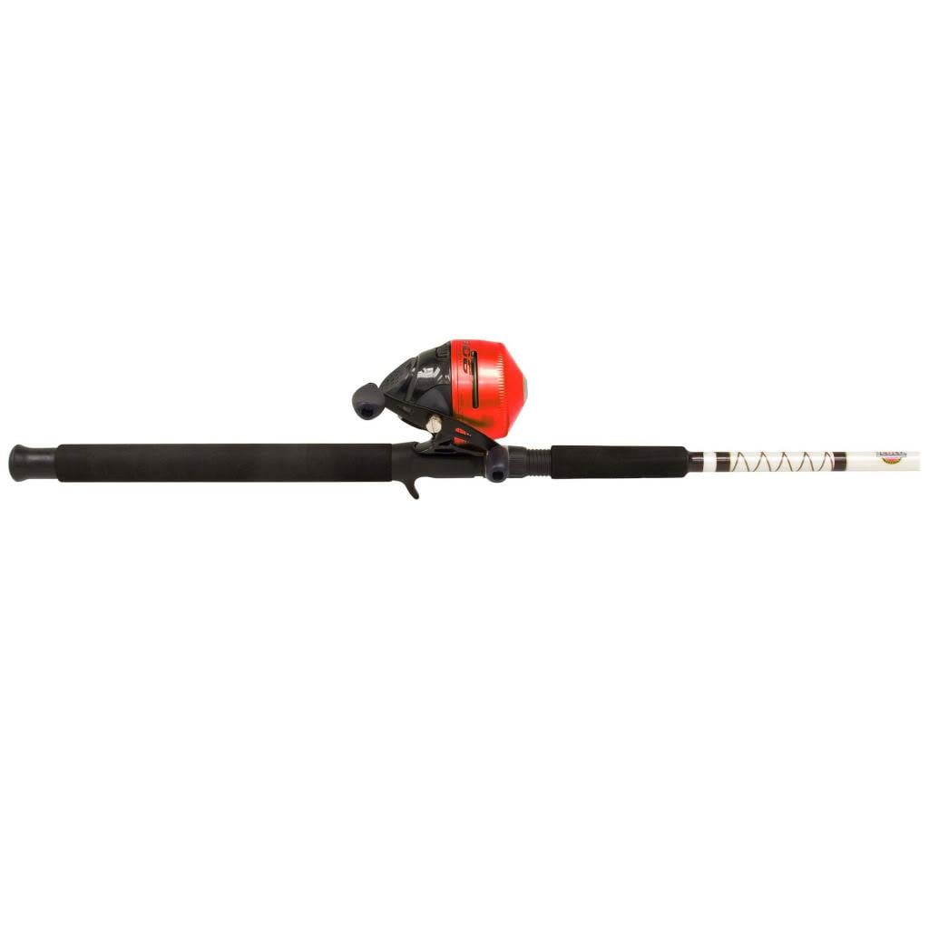 Zebco 606 Spincast Fishing Combo, Silver stainless steel