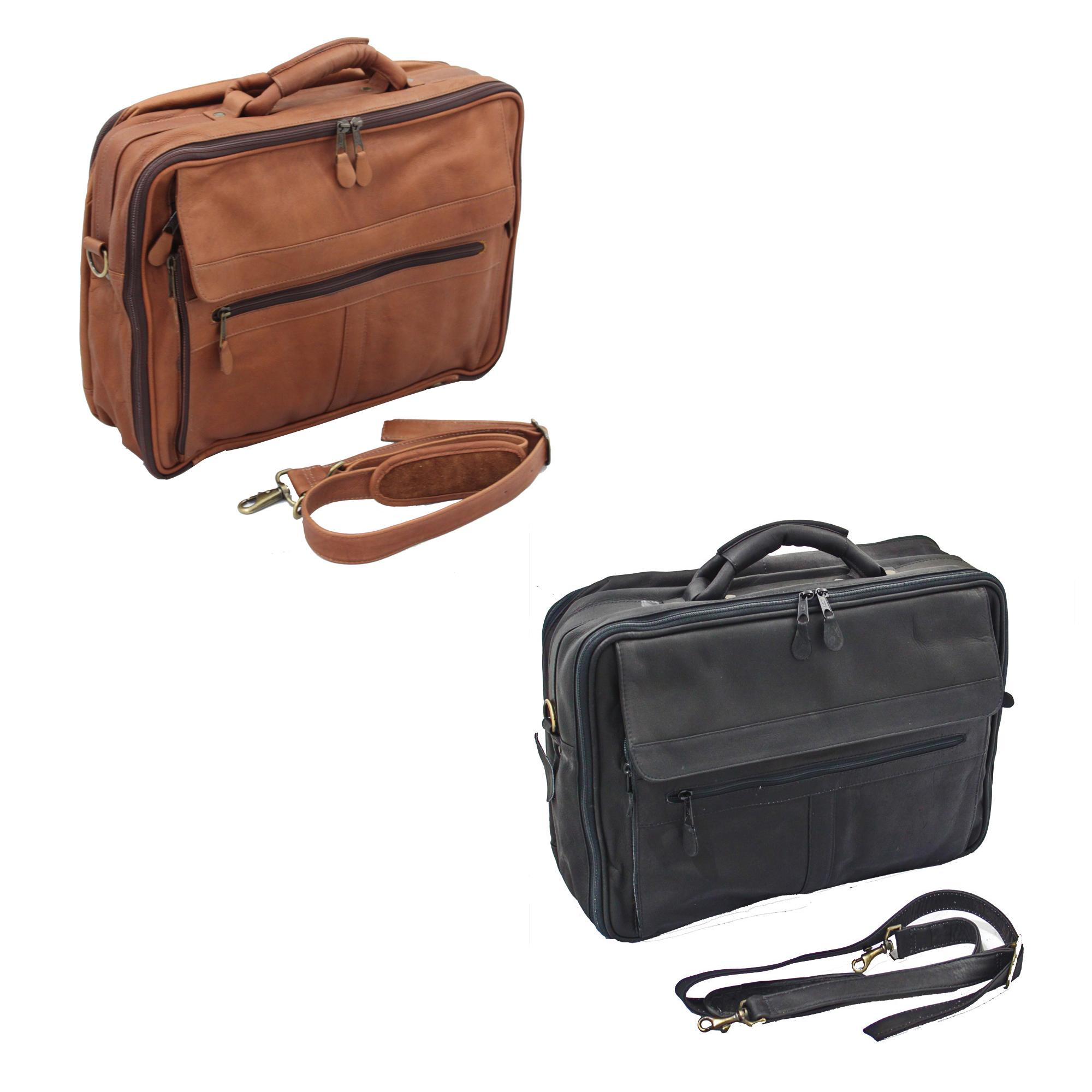 Vaquetta Handcrafted Top Grain Leather Overnighter Briefcase