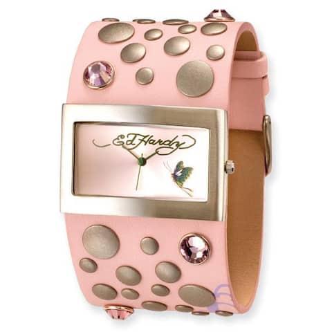 Versil Ed Hardy Women's Pink Love Child Watch