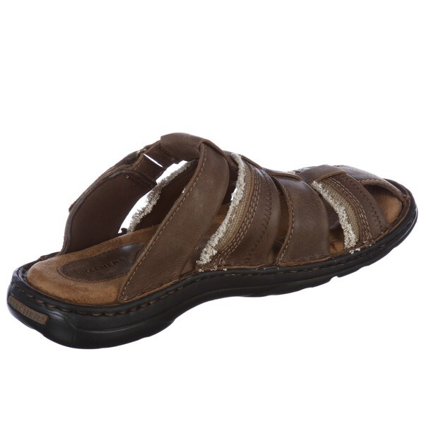 Skechers Men's 'Obtuse' Leather Mule Sandals