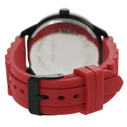 Geneva Platinum Women's Rhinestone-accented Silicone Strap Watch - Thumbnail 1