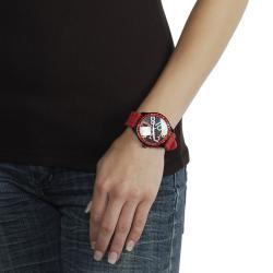 Geneva Platinum Women's Rhinestone-accented Silicone Strap Watch - Thumbnail 2