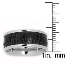 Oliveti Stainless Steel Black-plated Men's Ring