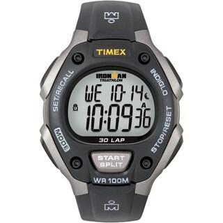 shop timex unisex t5e961 ironman traditional 30 lap black grey watch rh overstock com timex ironman triathlon women's watch manual timex ironman triathlon women's watch manual