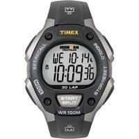 Timex Men's T5E901 Ironman Classic 30 Grey/ Black Resin Strap Watch - Grey/Black