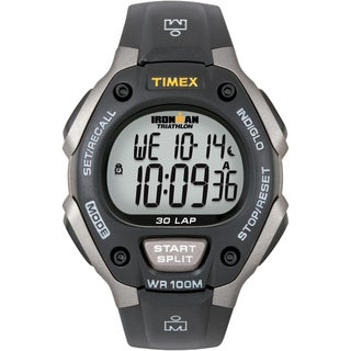 Timex Men's T5E901 Ironman Classic 30 Grey/ Black Resin Strap Watch