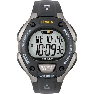 Timex Men's T5E901 Ironman Classic 30 Grey/ Black Resin Strap Watch - Grey/Black
