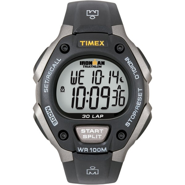 Timex Men's T5E901 Ironman Classic 30 Grey/ Black Resin Strap Watch
