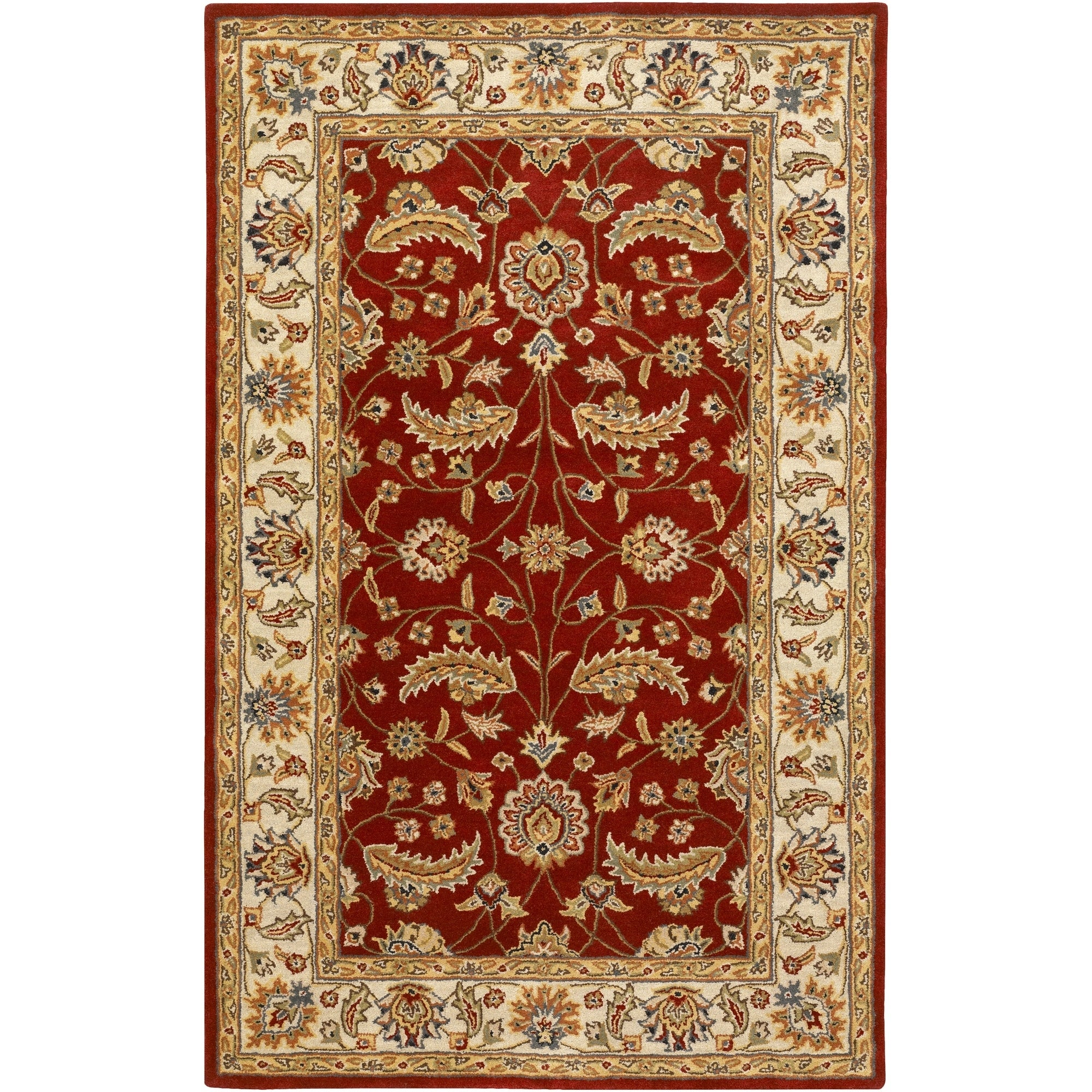 Hand Tufted Kaiser Burgundy Wool Area Rug 4 X 6 On Sale Overstock 5885396