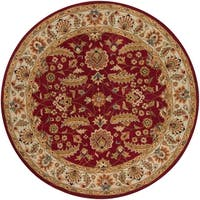 Hand-tufted Kaiser Red Wool Area Rug - 4'