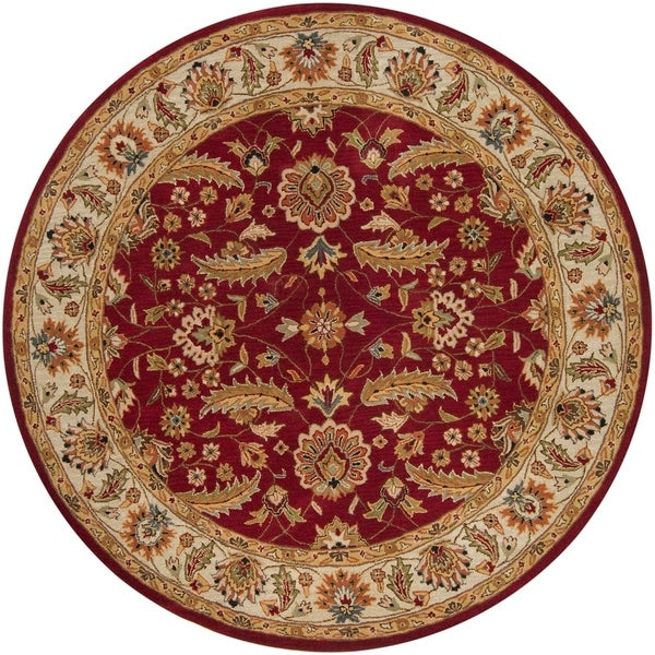 Hand-tufted Kaiser Red Wool Area Rug - 6'