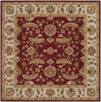 Hand-tufted Kaiser Red Wool Area Rug (8' Square)