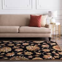 Hand-tufted Caper Black Wool Area Rug (8' Square)
