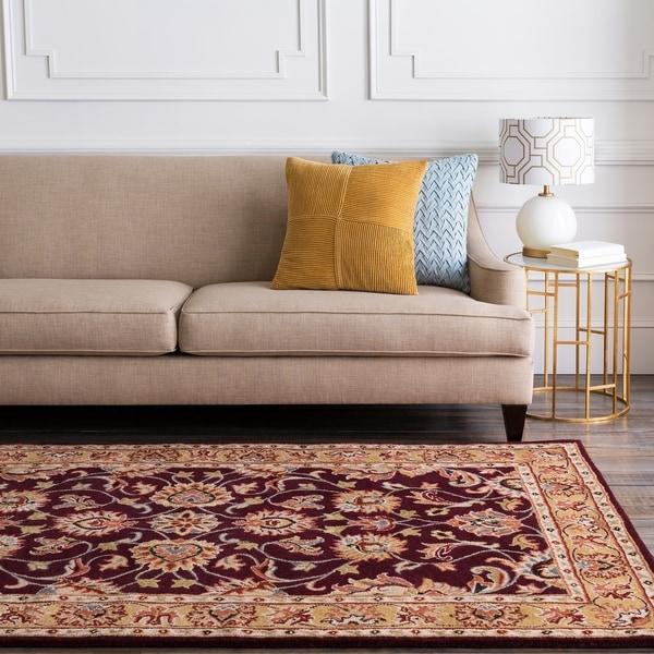 Hand-tufted Casa Plum Wool Area Rug - 6' x 9'