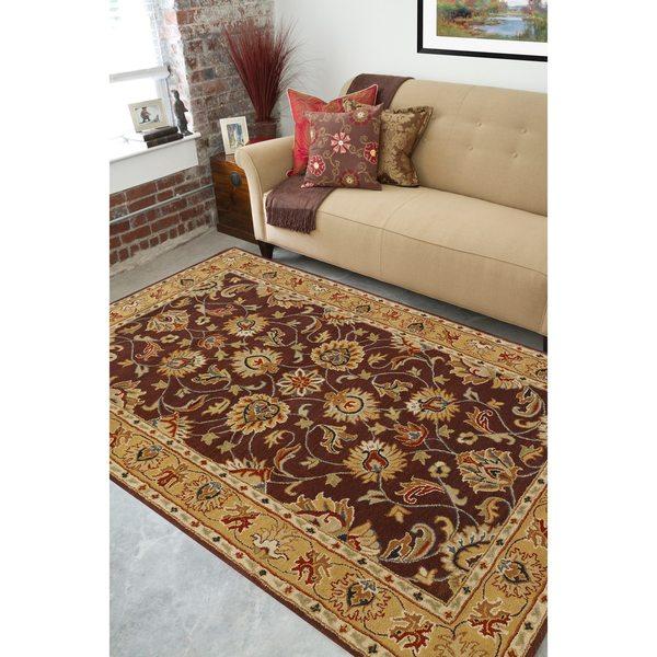 Hand-tufted Casa Plum Wool Area Rug (6' x 9')