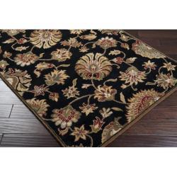 Hand-tufted Caper Black Wool Rug (5' x 8') - Thumbnail 1