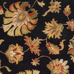 Hand-tufted Caper Black Wool Rug (5' x 8') - Thumbnail 2