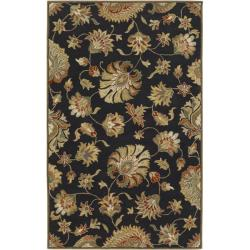 Hand-tufted Caper Black Wool Area Rug (5' x 8') - Thumbnail 0