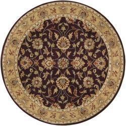 Hand-tufted Casa Plum Wool Rug (4' Round)