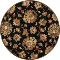 Hand-tufted Caper Black Wool Area Rug - 8' x 8'
