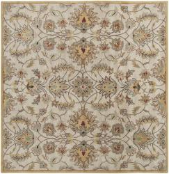 Hand-tufted Stage Gold Wool Rug (4' x 4')