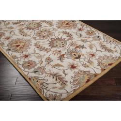 Hand-tufted Stage Gold Wool Rug (8' x 11')