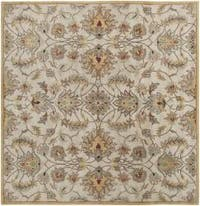 Hand-tufted Stage Gold Wool Area Rug (8' x 8')