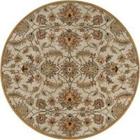 Hand-tufted Stage Gold Wool Area Rug (9'9 Round)