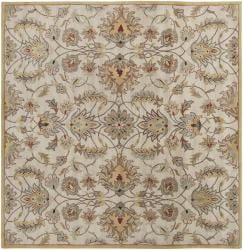 Hand-tufted Stage Gold Wool Rug (6' x 6')