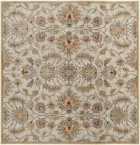 Hand-tufted Stage Gold Wool Area Rug (6' x 6')