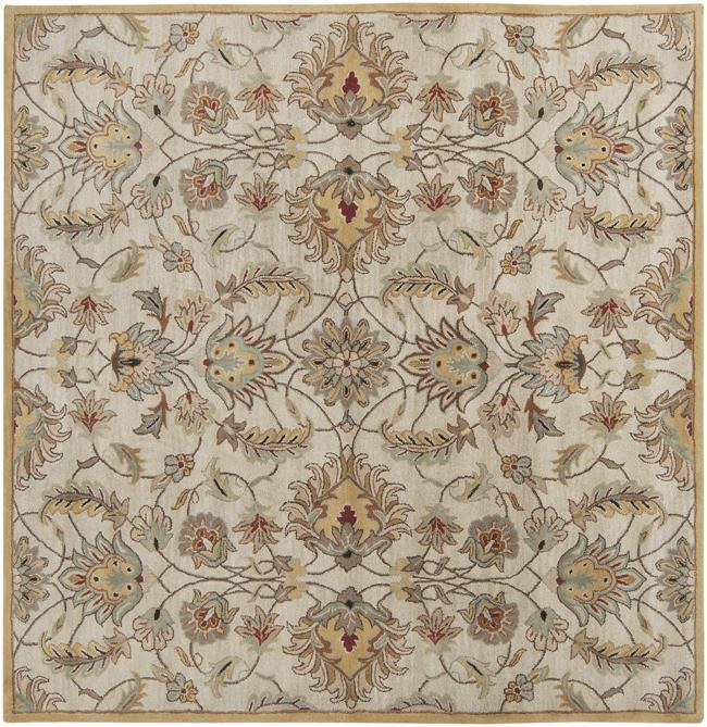 Hand-tufted Stage Gold Wool Rug (9'9 x 9'9)