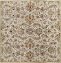 Hand-tufted Stage Gold Wool Area Rug (9'9 x 9'9)
