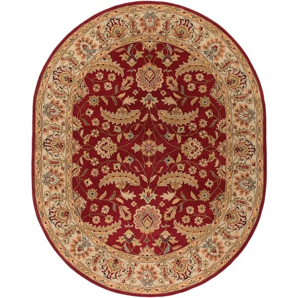 Hand-tufted Kaiser Red Wool Area Rug - 8' x 10'